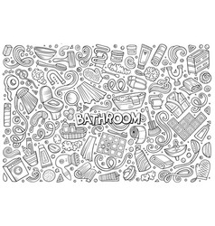 et of bathroom objects vector image