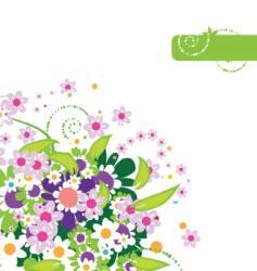 floral border vector image vector image