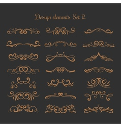 Flourish embellishments Flourishes filigree vector image vector image