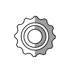 gear wheel technology mechanical line shadow vector image