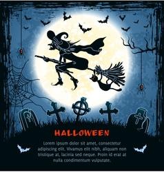 Spooky card for Halloween vector image