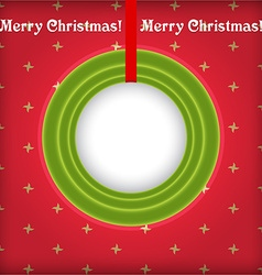 Christmas round frame with place for text vector image