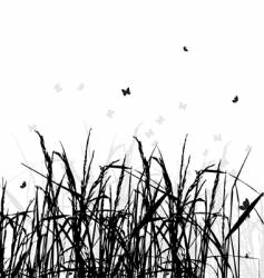 grass silhouette background vector image vector image
