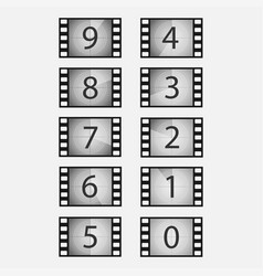 movie countdown set vector image
