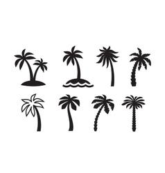 palm icon vector image