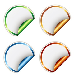 stickers with metallic backs vector image vector image