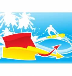 summer wave vector image vector image