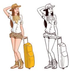 Tourist Woman vector image