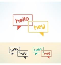bubbles dialogue in modern flat design vector image vector image