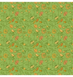 fantasy floral seamless background vector image vector image