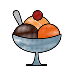 ice cream on cup vector image vector image