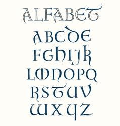 Lombardic Alphabet vector image vector image