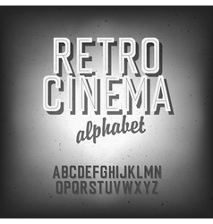 Retro cinema font vector