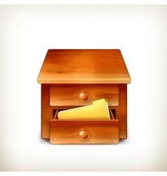 Secretary desk vector image