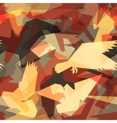 Abstract bird tile vector image vector image