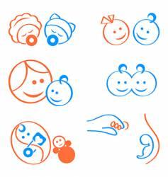 babies logo elements vector image