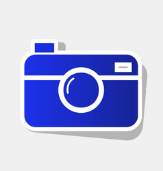 digital photo camera sign new year bluish vector image vector image