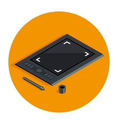 Graphic tablet vecot icon vector image