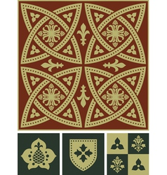 Middle Ages Ornament Set vector image