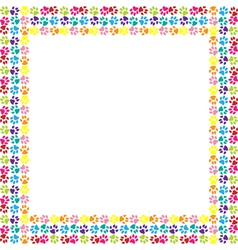 Paw print frame vector image
