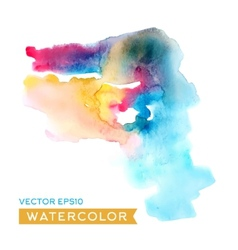 Watercolor abstract drawing high-quality vector image