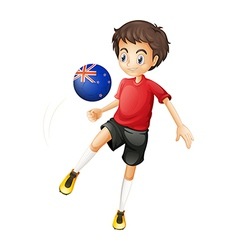 A football player from New Zealand vector