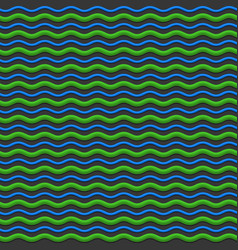 abstract green and blue waves seamless pattern vector image