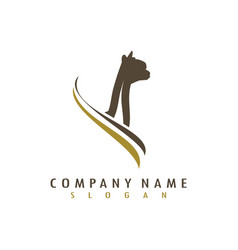Alpaca logotype vector
