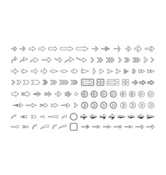 arrows big collection with borders and shadows vector image