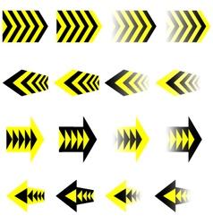 Black Yellow Arrows EPS10 vector image