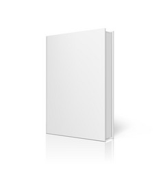 blank book with clear cover standing on white vector image