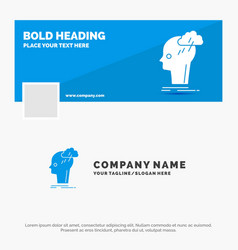 blue business logo template for brainstorm vector image