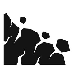 Building landslide icon simple style vector