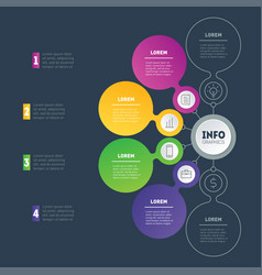 business presentation or infographic with 4 vector image