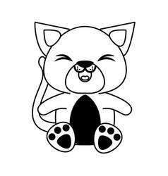 Cat cute animal cartoon icon image vector