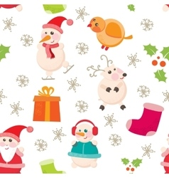 Cheerful Beautiful festive seamless pattern vector image