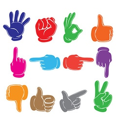 Colourful hands vector image