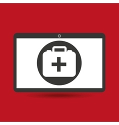 computer digital healthcare first aid box vector image