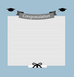Congratulation graduation banner vector image