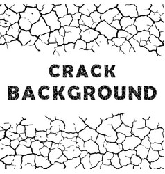 cracks background with text vector image