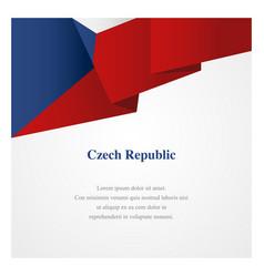 czech republic insignia template vector image