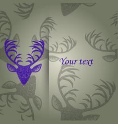 Deer heads pattern vector