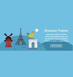 discover france banner horizontal concept vector image