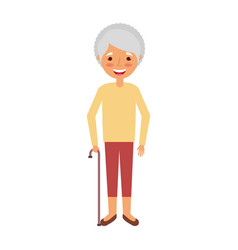 elderly woman grandmother character happy vector image
