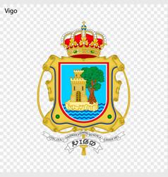 emblem of vigo city of spain vector image