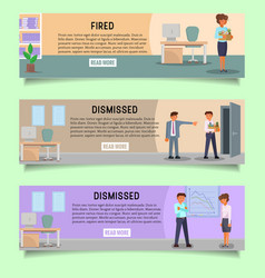 fired people web banner template set vector image