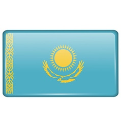 Flags Kazakhstan in the form of a magnet on vector