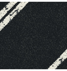 fragment of asphalt road vector image