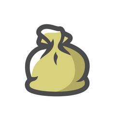 Garbage bag simple icon cartoon vector