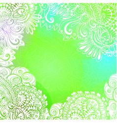 green romantic background for meditation design vector image
